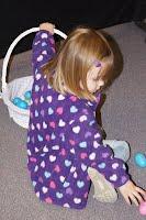 Child hunts Easter Eggs